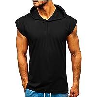 Débardeurs à Capuche, YUYOUG Hommes Fitness Muscle Solid Sans Manches Capuche Bodybuilding Tight-dry Tops Gym Blouse…