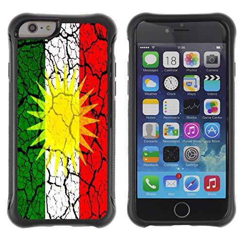 Graphic4You Kurdistan Kurdisch Flagge Stoßfeste Anti-Rutsch Weichen Hülle Case Tasche Schale Schutzhülle für Apple iPhone 6 Plus / 6S Plus Design #6
