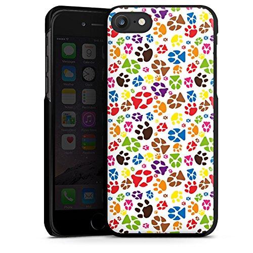 Apple iPhone X Silikon Hülle Case Schutzhülle Pfoten Bunt Hund Haustiere Hard Case schwarz