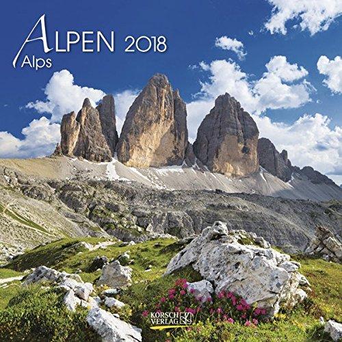 Alpen 2018. Broschürenkalender: Broschürenkalender mit Ferienterminen