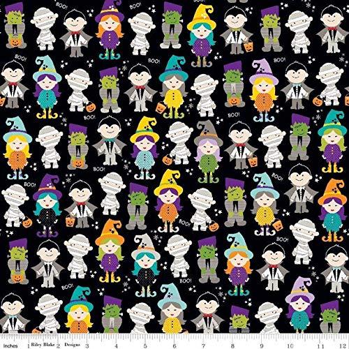 Brittschens Stoffe und Zutaten Stoff Meterware Baumwolle Riley Blake Halloween Magic Zombis je 50cm x 112cm Kinderstoff