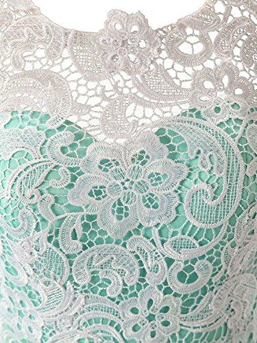 Dressystar Robe femme, Robe de soirée/Cérémonie longue, à fleur, en dentelle,tulle. Corail
