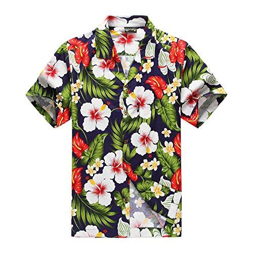Camisa-hawaiana-de-los-hombres-de-la-moda-de-Aloha-Camisa-hawaiana-de-los-hombres-de-la-hawaiana-M-Marina-con-la-cala