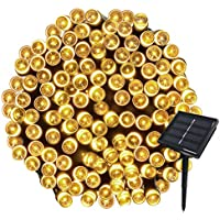 Yasolote Solar Garden Lights, Waterproof Fairy Lights, 72ft 20m 200 LED 8 Twinkling Modes, Decorative Outdoor String Lights for Gazebo, Patio, Lawn, Yard, Fence, Wedding Ornament (Warm White, 1 Pack)