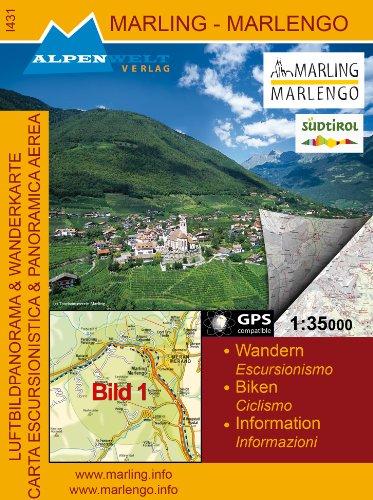 Preisvergleich Produktbild Marling-Marlengo: Alpenwelt Wanderkarte
