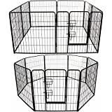 Marko Pet Accessories Pet Pen Large Heavy Duty Dog Run Puppy Play Whelping Cage Metal Enclosure Panel