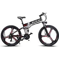 GUNAI Elektrisches Mountainbike 48V 10.4AH Wechselakku und 21-Gang-Getriebe (26 Zoll)