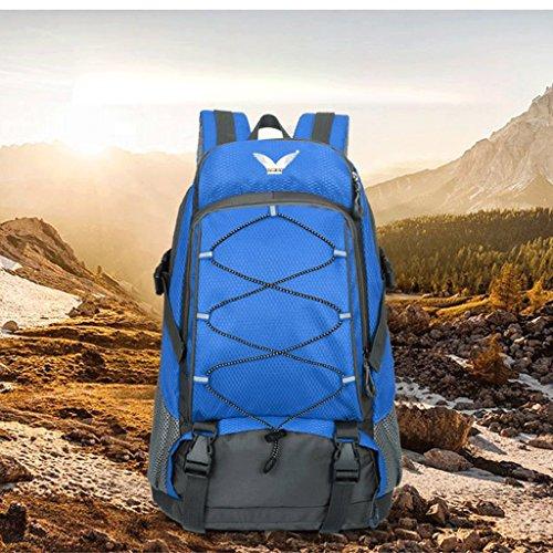 Ali autentici esterni dello zaino di alpinismo uomini e donne a cavallo sacchetto impermeabile trekking zaino esterno dello zaino Drawstring blu