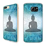 Handyhülle Mandala für Samsung Silikon Hippie Yin Yang Goa Om Buddha Peace Yoga, Handy:Samsung Galaxy S7 Edge, Hüllendesign:Design 2 | Silikon Klar