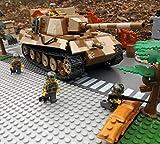 Modbrix 2484 - ☠ Bausteine Panzer Jagdtiger VI Totenkopf Division inkl. Custom Elite Wehrmacht Soldaten aus Lego Teilen ☠
