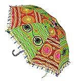 Jaipuri Handmade Embroidery Work Design Cotton Parasol Umbrella 21 x 26 Inches