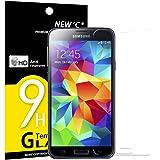 NEW'C PanzerglasFolie Schutzfolie für Samsung Galaxy S5 Mini, Frei von Kratzern Fingabdrücken und Öl, 9H Härte, HD Displayschutzfolie, 0.33mm Ultra-klar, DisplayschutzfolieSamsung S5 Mini