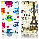 thematys LG G2Mini en Cuir PU 2x Verres Chouette + 1889France Paris Design...