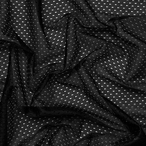 Coolmax® Mesh - schnell trocknend, Feuchtigkeitstransport - Meterware (schwarz)
