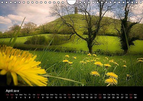 Glastonbury Tor (Wall Calendar 2018 DIN A4 Landscape): A calendar of images of Somerset's most famous landmark (Monthly calendar, 14 pages ) (Calvendo Places) [Kalender] [Apr 01, 2017] Hardin, Jack -