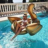 Beach Toy ® - Matelas gonflable géant, CYGNE GOLD, géant 2-3 personnes,Taille 175 x 170 x 130 cm