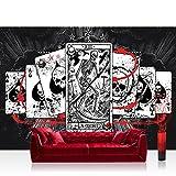 Fototapete 254x184 cm PREMIUM Wand Foto Tapete Wand Bild Papiertapete - Illustrationen Tapete Alchemy - Ace of Spades Karten Totenköpfe schwarz - no. 331