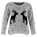 Weihnachtspullover LED Damen Herbst Winter Strickpullover Elegante Mode  Bekleidung Unique Pin-up Rentier Pullover Slim 1e122c5490