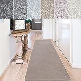 casa pura Teppich Läufer Sundae | Meterware | Teppichläufer für Wohnzimmer, Flur, Küche usw. | kuschlig weich | mit Stufenmatten kombinierbar (Beige - 66x100 cm)