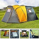 Deuba Zelt Familienzelt Campingzelt | 500x300x195cm | für 4 Personen | 4000mm Wassersäule | inkl. Tragetasche, 36 Heringe, 16 Abspannseile