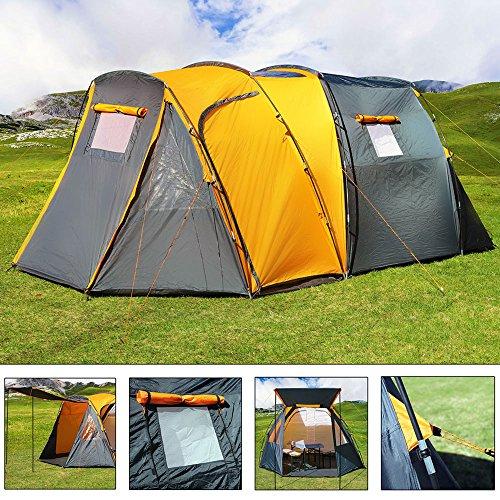 b6ff128fa2b Deuba 4 Person Dome Tent Grey Orange 2