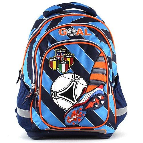 Goal Sac à Dos Enfants Léger 44 cm Multicolore (Bleu Foncé/Orange/Noir)