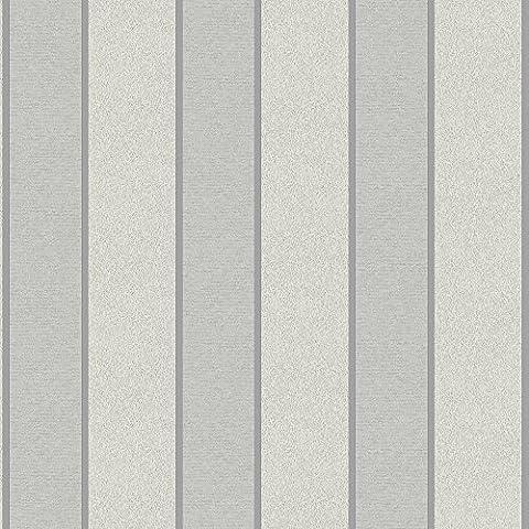 Muriva 18433 Large Regal Stripe Wallpaper - Silver