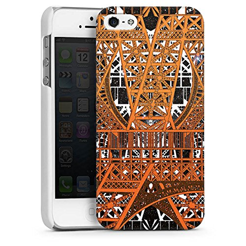 Apple iPhone 5 Housse étui coque protection Paris Tour Eiffel Motif CasDur blanc