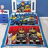 LEGO City Figure biancheria da letto per bambini polizia & Vigili del fuoco 2PZ–80X 80+ 135x 200cm–100% cotone–Deutsche bettwaeschen Taglia
