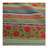 Stoff Baumwolle Jacquard Streifen bunt breit 290 cm breit
