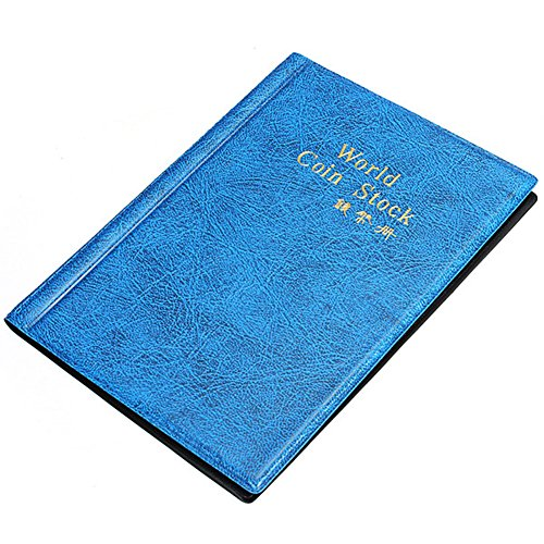 Münzsammlungsalbum 120 Taschen 10P Münzsammler Aufbewahrungshalter Buch geeignet für Münzdurchmesser Kappen, Token Medaillons