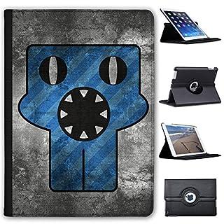 Fancy A Snuggle Grunge-Monster Blau Staubsaugermund Case Cover/Folio aus Kunstleder für Das Apple iPad AIR (1st Generation)