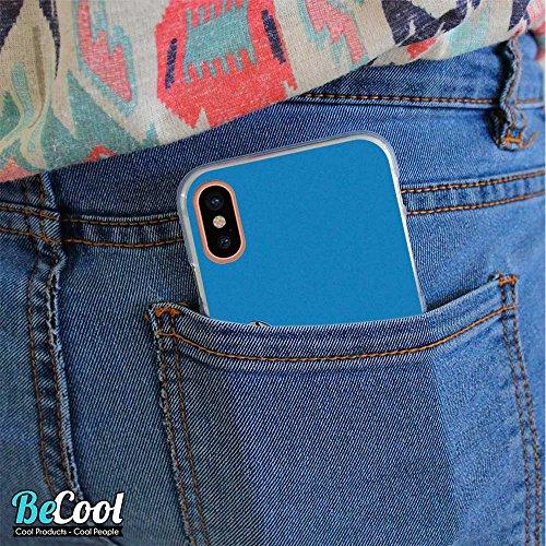 BeCool®- Coque Etui Housse en GEL Flex Silicone TPU Iphone 8, Carcasse TPU fabriquée avec la meilleure Silicone, protège et s'adapte a la perfection a ton Smartphone et avec notre design exclusif. Tee L1704