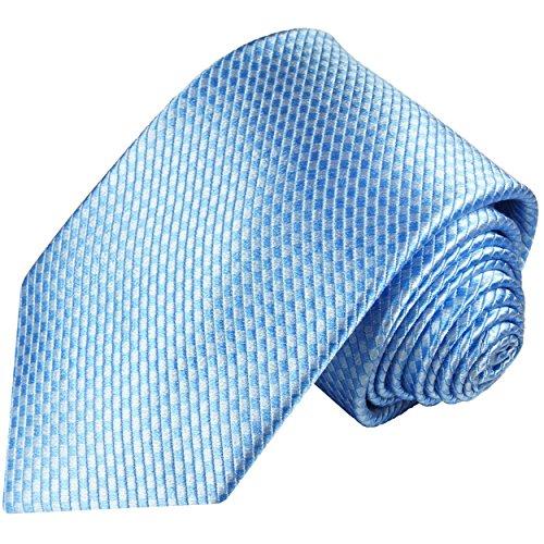Blaue XL Krawatte 100% Seidenkrawatte (extra lange 165cm) von Paul Malone