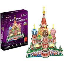 3D Puzzle Catedral de San Basilio de Moscú St. Basils Cathedral LED Cubic Fun