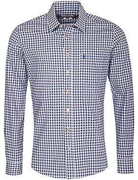 Almsach Trachtenhemd Sascha Slim Fit in Blau Inklusive Volksfestfinder