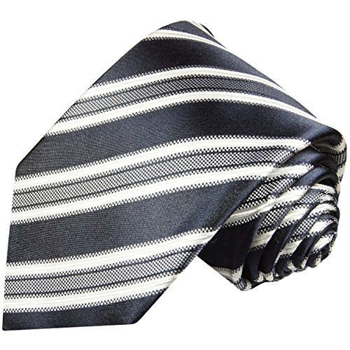 Cravate homme bleu gris rayée 100% cravate en soie ( longueur 165cm )