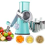 99pcs Vegetable Fruit Cutter, Vegetable Slicer, Multi-Function Rotary Round Drum Cheese Grater with 3 Stainless Steel Rotary