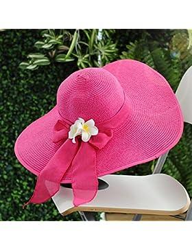 estate femminile Grandi gronda cupola cappello di paglia mare Tempo libero ombra Protezione solare ( Colore :...