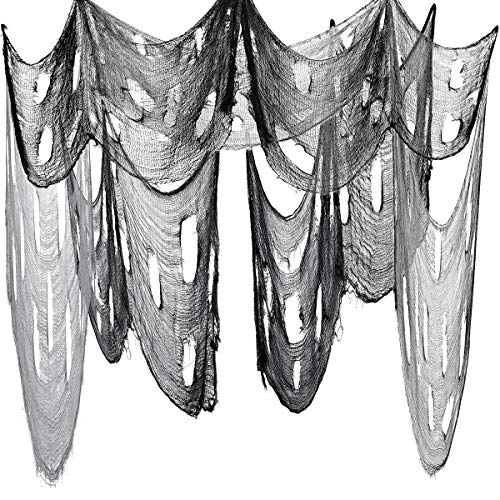 "Toyvian Halloween Deko Stoff Dekostoff Tuch Decke, 2 STÜCKE Horror Halloweenstoff 6.6ft x 177 ""(450 X 200cm) Spukhäuser Dekor Hallowmas Party Supplies"