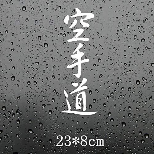 Csfssd Personalized car Stickers Karate Kanji-Zeichen Auto Aufkleber Funny car Aufkleber Styling 23x8cm (Color : White)