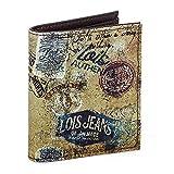 Lois - Porte-Monnaie, Porte-Monnaie, Porte-Cartes en Tissu estampé. Vertical. 5 Compartiments Cartes et Documentation et 1 pour Les Billets 12602, Color Marron