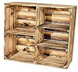 Geflammter Holzschrank mit 3 Mittelbretter und Trennbrett 80x70x35cm