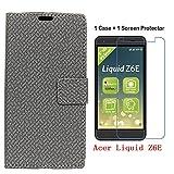 Acer Liquid Z6E Case+Glass Screen Protector,Wallet holster