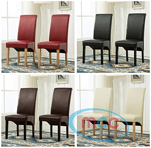 set-of-2-faux-leather-dining-chairs-roll-top-scroll-high-back-for-home-commercial-restaurants-brown-