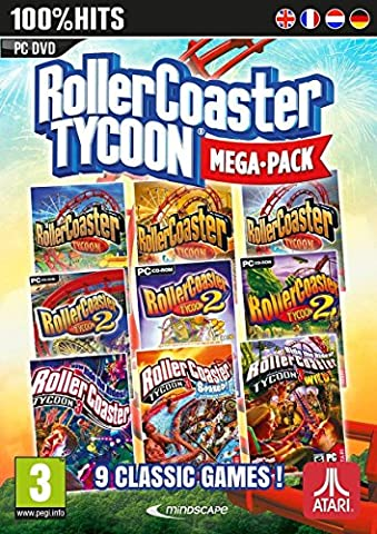 Rollercoaster Tycoon 9 Game Megapack (PC DVD) UK IMPORT