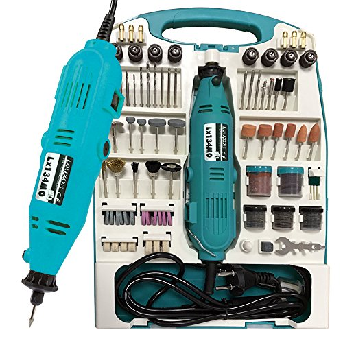 LARS360® Mini-Schleifer Schleifmaschine 226 teilig inklusive Koffer Handschleifer Multischleifer Multitool Rotary Drill Grinder Schleifen Werkzeug (226 teilig) - Drill Grinder