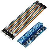 Anpro Relay Module 8-Kanäle RelaisModul Brett 5V + Male Female Jumper Wire Kabel Steckbrücken Drahtbrücken für Arduino Raspberry Pi 3 B+