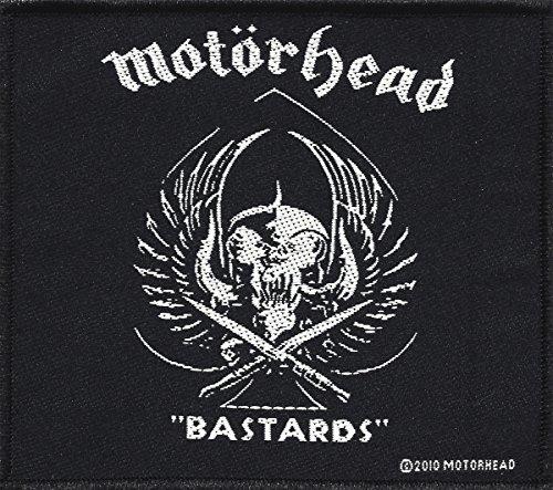 Toppa in tessuto con ricamo MOTÖRHEAD e scritta Bastards, 10x 8,5 cm