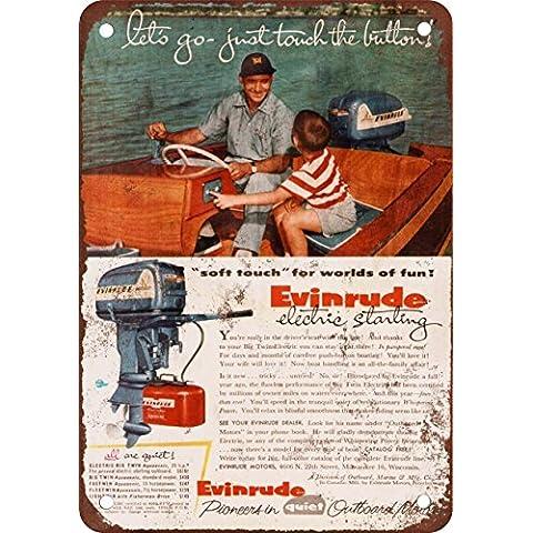 1955Evinrude motori fuoribordo Look Vintage Riproduzione in